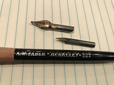 Vintage A.W Faber Berkeley Caligraphy Pen # 44c USA with 2 points