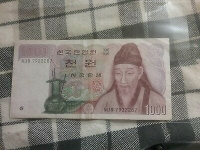 South Korea, 1000 ( 1,000 ) won, (1983), P-47, vf