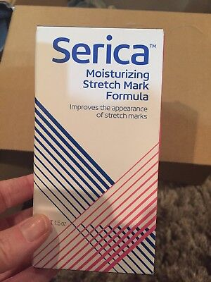 Serica Moisturizing Stretch Mark Formula Cream Lotion 1.5 oz 42.5 g NEW