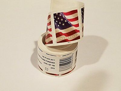 Coil Of 100 Stamps USPS Sealed Roll US Flag 2017 USA First Class Forever
