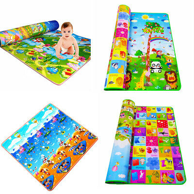 Double-Sides Kids Crawling Educational Game Play Mat Soft Foam Picnic Carpet