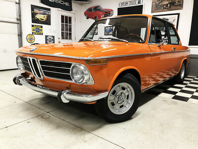 1970 Bmw 2002  Fire Orange Roundie, Recaro Seats, Bilstein, Nardi Wheel, Well Documented
