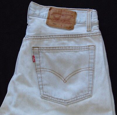 VINTAGE 90s LEVI'S 501 Button Fly Jeans Fade Wash Size 31x31 Made in USA EUC