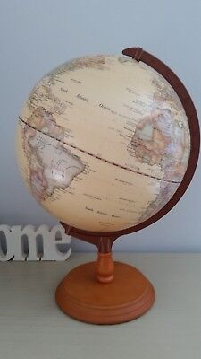 WORLD GLOBE VINTAGE STYLE - Rotating Geography Globes