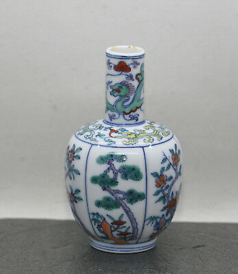 Beautiful Vintage Hand Painted Chinese Porcelain Small Vase Great Condition