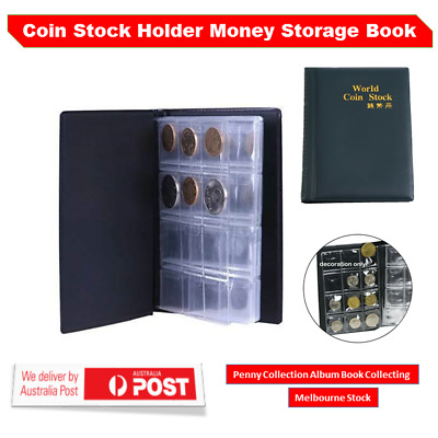 Coin Stock Storage Collection Album Book Holder Pockets Penny Money Collecting