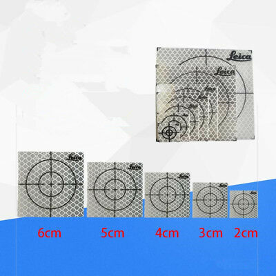 100 pcs Reflective targets reflective 20*20mm FOR total station