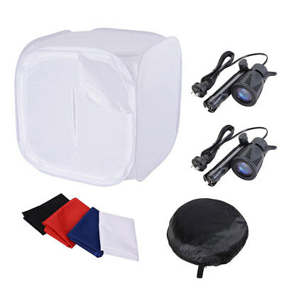 Photography Photo Soft Box Light Tent Kit 91cm Cube 4 Backdrops w/ Bag Studio