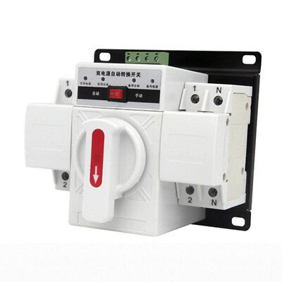 1PC 63A 50HZ/60HZ MINI Dual Power Automatic Transfer Switch CB Level Home Use