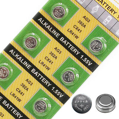 10PCS 1.55V AG3 LR41 392A 736 Alkaline Coin Button Cell Battery For Toy Watch.
