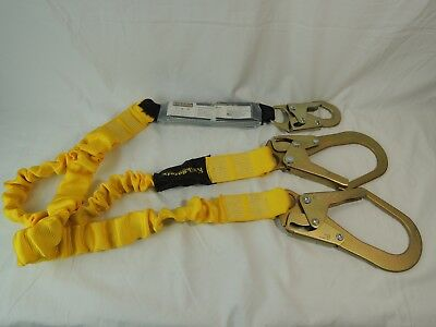 KwikSafety 6' ANSI 2 Leg Shock Absorbing Safety Lanyard ~ KS312206 ~ 310 lb cap