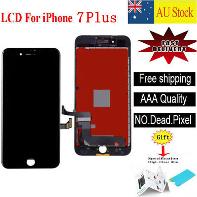 """Screen LCD For iPhone 7 Plus 5.5"""" Display Touch Digitizer Lens Replacement Black"""