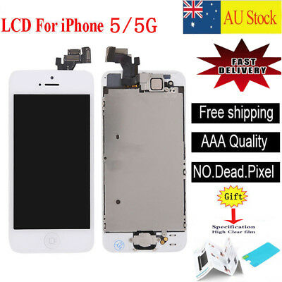 For iPhone 5 5G white LCD Screen Touch Digitizer Full Assembly replacement