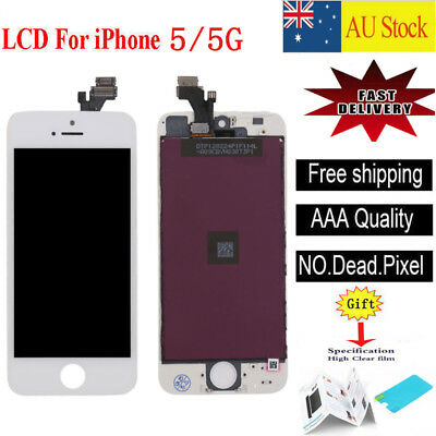 For White iPhone 5 LCD Digitizer Touch Screen Display Assembly Replacement