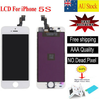 For iPhone 5S Touch Screen LCD Display Digitizer Assembly White Replacement