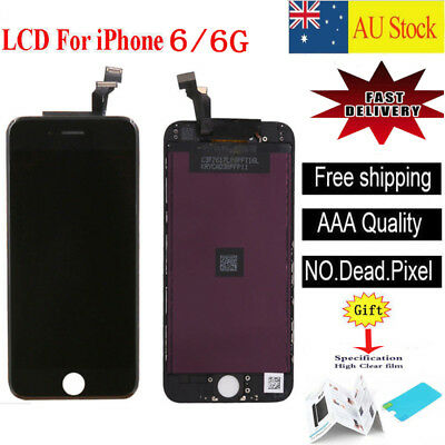 """Black For iPhone 6 4.7"""" LCD Display Touch Screen Digitizer Assembly Replacement"""