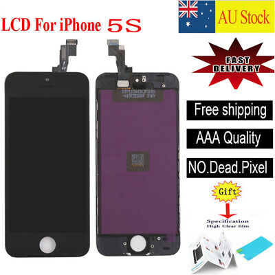 For iPhone 5S Touch Screen LCD Display Digitizer Assembly  Replacement Black