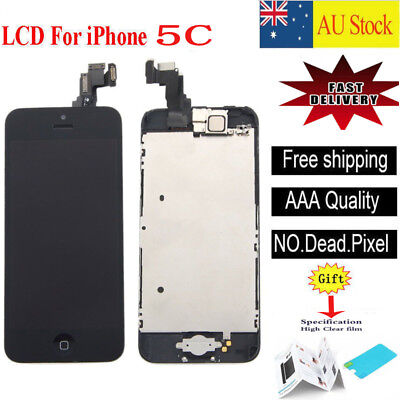 For iPhone 5C black LCD Screen Touch Digitizer Full Assembly replacement