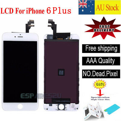 For iPhone 6 Plus LCD Display Screen Replacement Touch Digitizer Assembly White