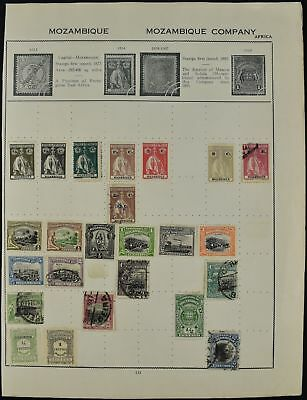 Mozambique/Company Album Page Of Stamps #V7672