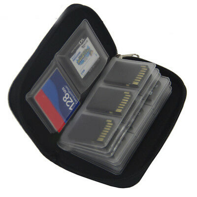 Convenient Memory Cards Storage Wallet Case Organizer Bags Holder SD CF 22 Slots