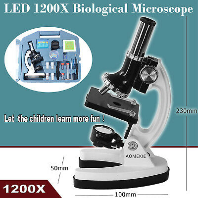 120-1200X LED Student Science Handheld Biological Microscope Endoscope Magnifier