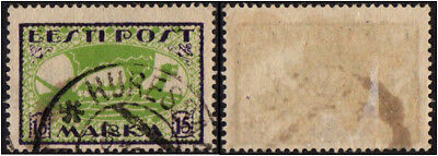 Estonia.  1919 -1920 New Daily Stamps. 15M. Cancelled
