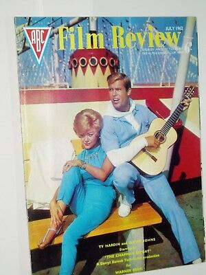 ABC FILM REVIEW magazine..(July 1962)..TY HARDIN & GLYNIS JOHNS cover