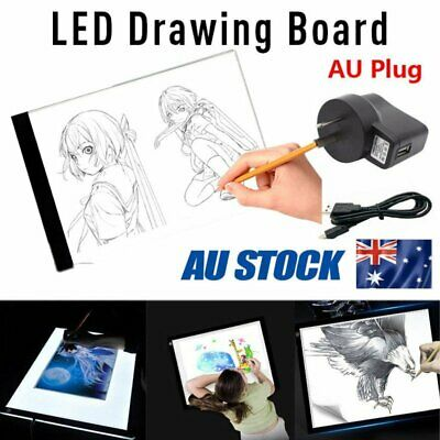 A4 USB LED Artist Tattoo Stencil Board Light Tracing Drawing Pad Table Box Gift