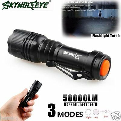 5000LM  Q5 AA/14500 3 Modes ZOOMABLE LED Super Bright Flashlight MINI Torch