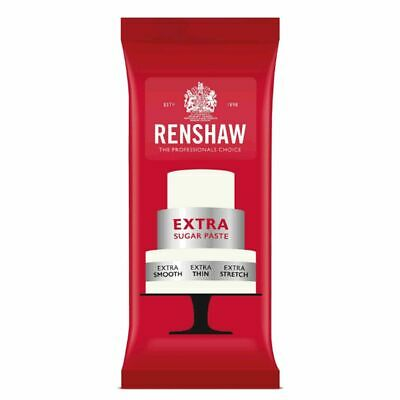 10 x Renshaw Extra Firm Elastic White Ready Roll Icing 1kg Sugarpaste Fondant