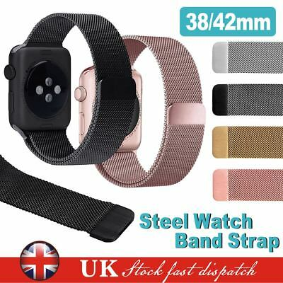 Stainless Steel Bracelet iWatch Band Strap For Apple Watch Series1/2/3 Xmas Gift