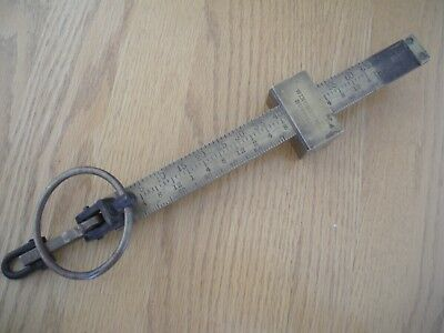 FREE SHIPPING VINTAGE Winchester Bushel Scale Brass