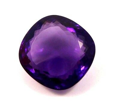 Treated  Faceted Amethyst Loose Gemstones 51 CT 24x24 mm NG12085