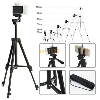 Professional Camera Cell Phone Tripod Stand Holder 360° Adjustable Portable DSLR