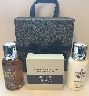 Molton Brown Mens Black Pepper Shower Soap Xmas Gift Set