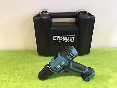 Erbauer 18v ERI744COM combi drill BODY & CASE ONLY NEW FREE POSTAGE