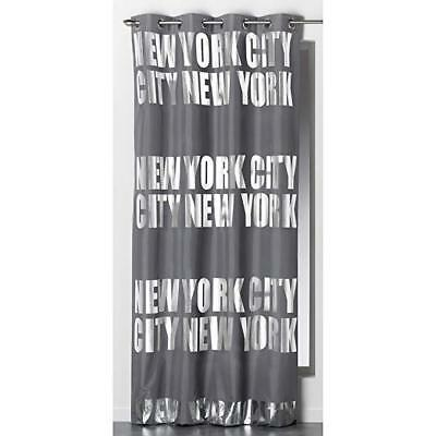 DOUCEUR D'INTERIEUR New York City Silver/Grey Curtain Panel 140cm x 260cm Eyelet