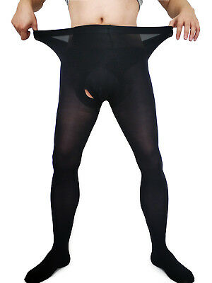 Men Plus Size Velvet Warm Pantyhose Super Elastic Thick Stockings Footed Tights