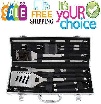 Poligo 19-Piece Bbq Grill Tools Set - Heavy Duty Stainless Steel Barbecue Grilli