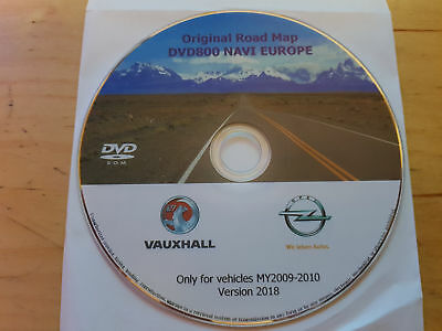 New OPEL Map Update DVD Europe 2018 DVD800 MY2009 / MY2010 Aggiornamento MAPPE