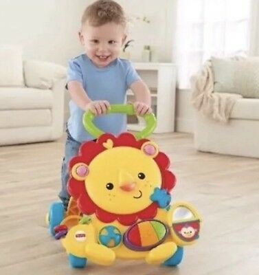 Fisher Price Lights, Sound & Musical  Lion Sit -to-Stand Baby Walker