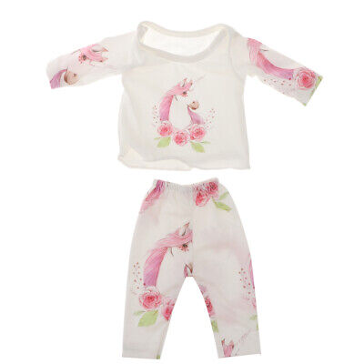 Cute Doll Jumpsuit Pajamas Set For 18'' AG American Doll Dolls 100% Cotton