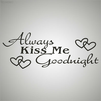 9598 Home Decor Always Kiss Me Goodnight Wall Stickers Living Room Vinyl Mural