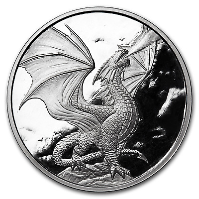 5 oz Silver Proof Round Anne Stokes Dragons (Noble Dragon) - SKU#176362