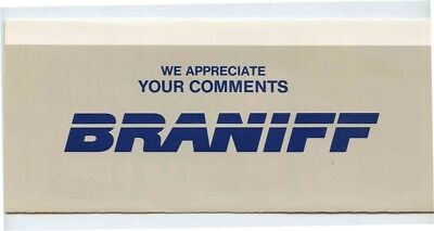Braniff Inc. We Appreciate Your Comments Form 1988