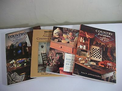 Four Reference Publications of American Country Antiques Furniture & Accessories