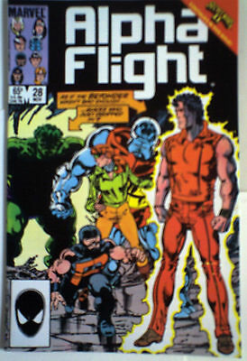 ALPHA FLIGHT 28 NM- Marvel comic Nov 1985 FINAL BYRNE! HULK! modern age See More