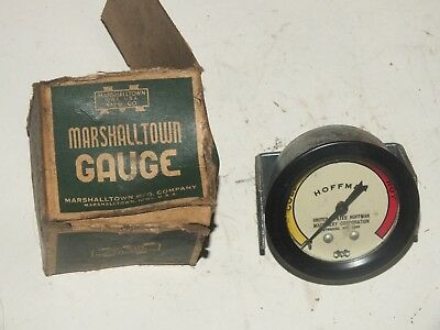 Vintage Marshalltown Hoffman Temperature Gauge New Old Stock & Box Car Truck