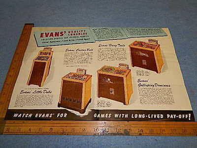 1946 Evans BANG TAILS, CASINO BELL, LITTLE DUKE & more Advertising Brochure